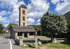 Romanesque church Sant Miquel d�Engolasters, Andorra Stock Images
