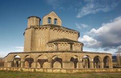 Romanesque church of Santa María de Eunate. Navarra, Spain Royalty Free Stock Photo