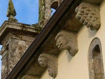 Romanesque church of Santa Maria de Figueiras. In Compostela Stock Images