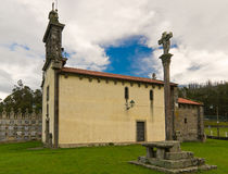 Romanesque church of Santa Maria de Figueiras. In compostela Stock Photography