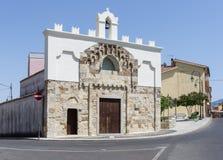 Romanesque church. Of Santa Maria di Malta, Guspini, Sardinia Stock Photos
