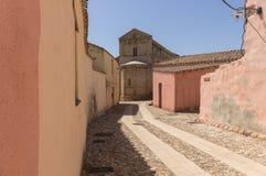 Romanesque church in Sardinia royalty free stock image