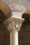 Romanesque church in segovia,  detail of a capital Royalty Free Stock Photos