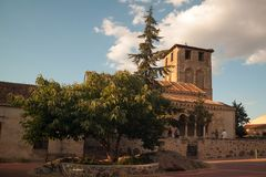 Romanesque church of Sotosalbos in Segovia, Spain. General view of the Romanesque church of Sotosalbos in Segovia, Spain royalty free stock image