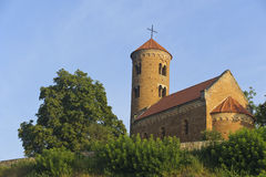 Romanesque church of St. Giles in Inowlodz. Poland Stock Images