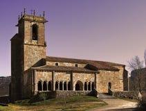 Romanesque Church of St. Julian. In Rebolledo de la Torre , Burgos Stock Photography