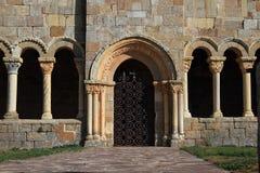 Romanesque Church of St. Julian. In Rebolledo de la Torre , Burgos Royalty Free Stock Photo