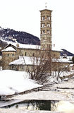 Romanesque church St.Karl, St. Moritz Royalty Free Stock Image