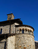 Romanesque church St.Karl in St. Moritz Royalty Free Stock Photo