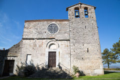 The Romanesque church of St. Nicholas - Italy. The Romanesque church of St. Nicholas in the medieval village of San Gemini. Umbria Region, central Italy Royalty Free Stock Photo