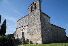 The Romanesque church of St. Nicholas - Italy. The Romanesque church of St. Nicholas in the medieval village of San Gemini. Umbria Region, central Italy Royalty Free Stock Images