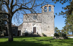 The Romanesque church of St. Nicholas - Italy. The Romanesque church of St. Nicholas in the medieval village of San Gemini. Umbria Region, central Italy Stock Image