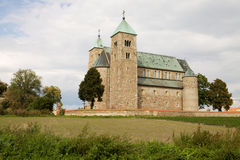 The Romanesque church in Tum village, Poland Stock Photography