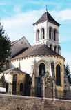 Romanesque church and water tower Stock Images
