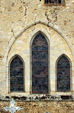 Romanesque church window in Congy Stock Photography