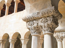 Romanesque cloister. Capitals of the monastery of Santo Domingo de Silos in Spain Burgos Province Royalty Free Stock Photography