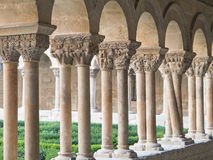 Romanesque cloister Stock Image