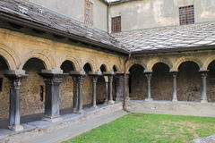 Romanesque cloister Royalty Free Stock Image