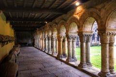 Romanesque cloister of Collegiata Santa Juliana Stock Photos