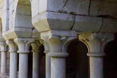 Romanesque cloister of the Monastery of Santa Maria de Vilabertr Royalty Free Stock Image