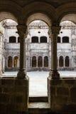 Romanesque cloister on the monatery of santo estevo do rivas do Stock Photography