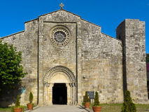 Romanesque collegiate Santa Maria of Baiona. In Galicia Stock Photography