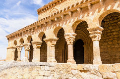 Romanesque colonnade Royalty Free Stock Photo
