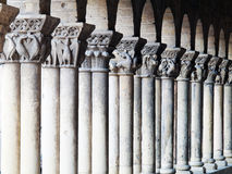 Romanesque columns. Of the Church of St. martin in segovia in Spain Stock Images