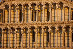 Romanesque columns and arches Stock Image