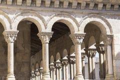 Romanesque columns  segovia, Spain Royalty Free Stock Photo