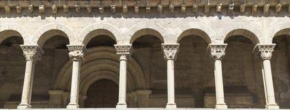 Romanesque columns  segovia, Spain Stock Photos