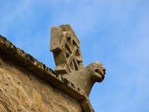 Romanesque cross. In Santiago de Compostela Royalty Free Stock Photography
