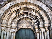 Romanesque door Stock Images