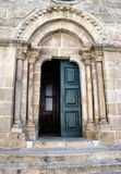 Romanesque door of Melgaco church Royalty Free Stock Photos
