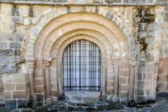 Romanesque door Royalty Free Stock Image