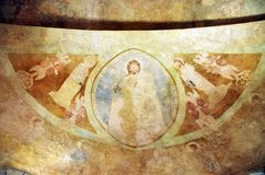 Romanesque frescos Royalty Free Stock Photography