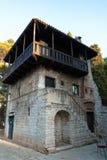 Romanesque-Haus in Porec, Istria, Kroatien stockbilder