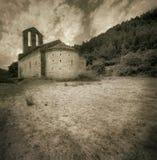 Romanesque hermitage from XII century at Girona -Catalonia Spain Stock Photo