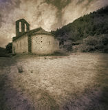 Romanesque hermitage from XIII century at Girona -Catalonia Spain Stock Image