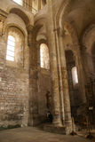 Romanesque interior  of the Abbey Church Stock Images