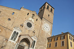 Romanesque italian church of Lodi Royalty Free Stock Image