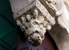 Romanesque Last Supper in Lugo Cathedral.  Royalty Free Stock Images