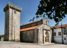 Romanesque monastery of Travanca Stock Images