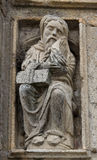 Romanesque old man in Holy Portal Royalty Free Stock Photography