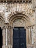 Romanesque Platerias facade. Compostela Cathedral Royalty Free Stock Photography