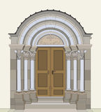 Romanesque portal Royalty Free Stock Photography