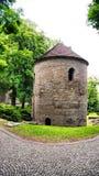 Romanesque Rotunda on Castle Hill in Cieszyn, Poland stock image