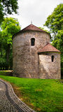 Romanesque Rotunda on Castle Hill in Cieszyn, Poland stock photography