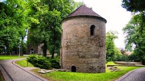 Romanesque Rotunda on Castle Hill in Cieszyn, Poland stock photos