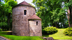 Romanesque Rotunda on Castle Hill in Cieszyn, Poland royalty free stock photo